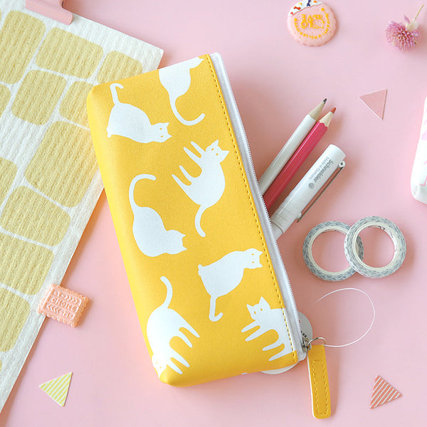 Korean Animal Pencil Case - cat
