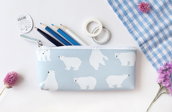 Korean Animal Pencil Case -  Bear