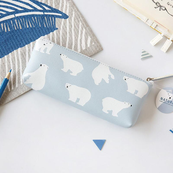 Korean Animal Pencil Case - polar bear