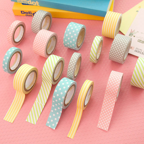 Cute Pattern Paper Washi Tape 5-Pack 4