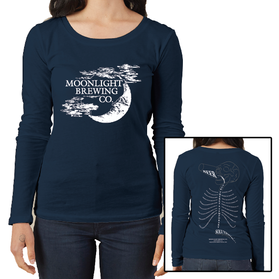Women's Moonlight Brewing Long Sleeve T-Shirt (limited size and quantity available!!)