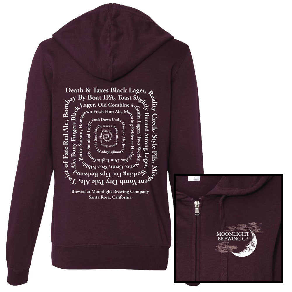 Women's Blackberry Moonlight Brewing Zip-Up Hoodie