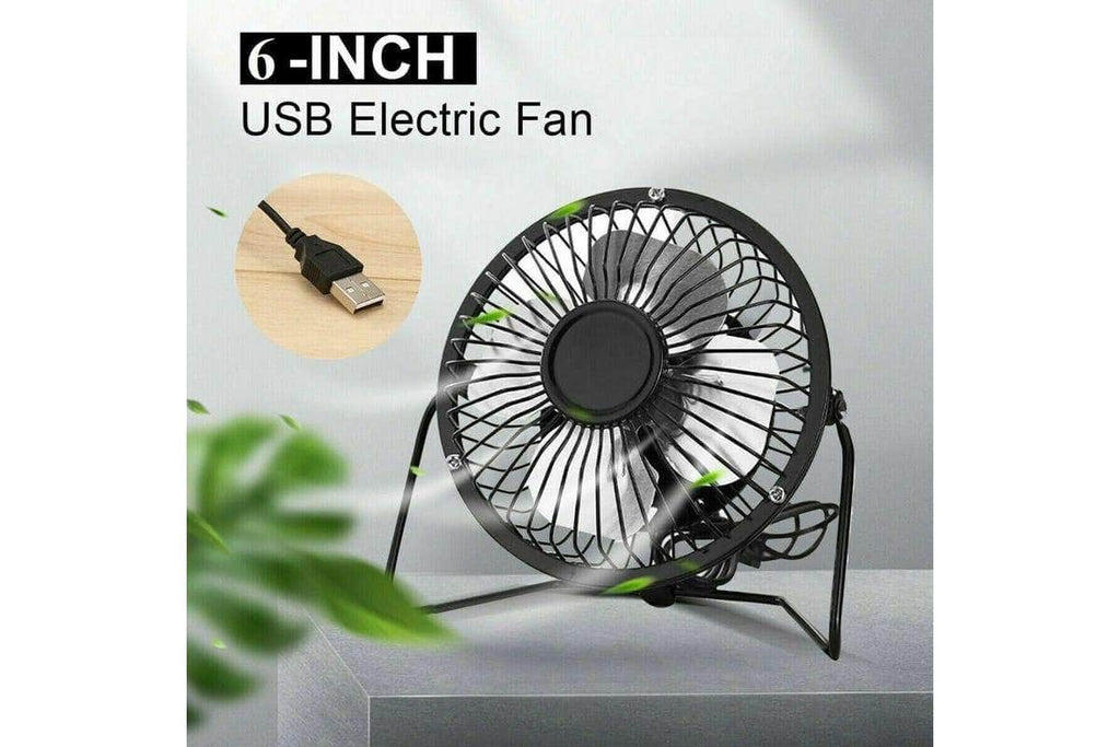 Mini USB Desk Fan Small Quiet Personal Cooler USB Powered Portable Table Fan-6 inch