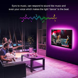 TV LED Backlights Strip Lights 4 x 1 m 5050 RGB Light Strip Music Sync USB
