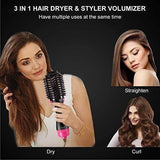 One Step Hot Air Brush, 3-in-1 Hair Dryer Brush & Styler & Volumizer Multi-functional Straightener