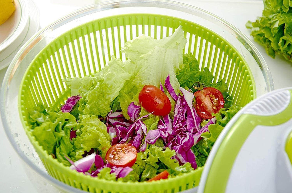 5L Large Salad Spinner and Dresser + Free vegetable Chopper