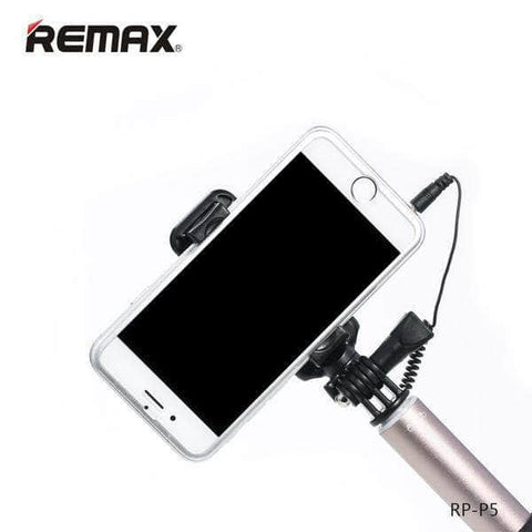 Remax P5 Aluminium Selfie Stick Monopod Wired Selfie Self Extendable Handheld Shutter