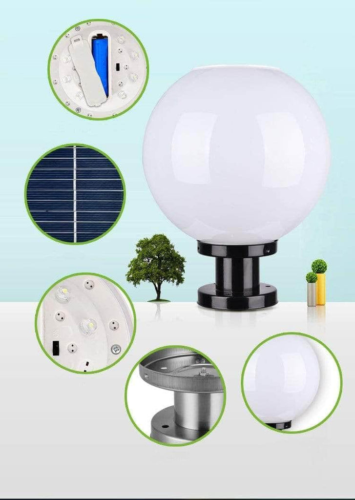 Electric/Solar  Dual Globe Lamp - With E27 Socket