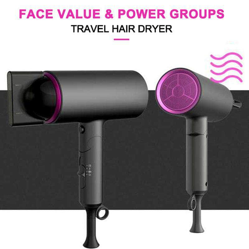 Mini Portable Foldable Hair Dryer Travel 1400W - Ionic
