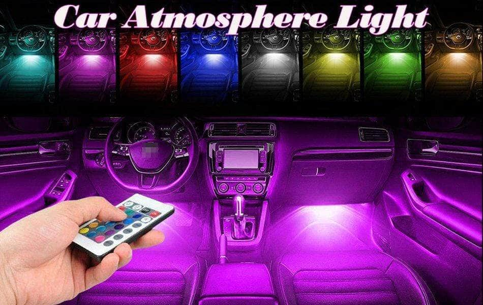 LED Car Interior Light Auto Atmosphere Lighting Kit (music sensor)  with Wireless Remote Control