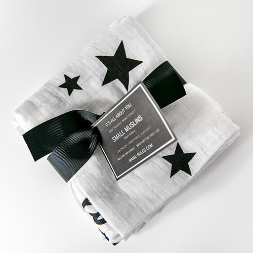 Luck Stars 3 Pack Small Muslins