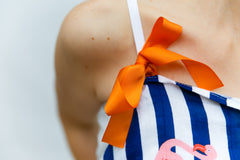 Nursing cover ribbon tie