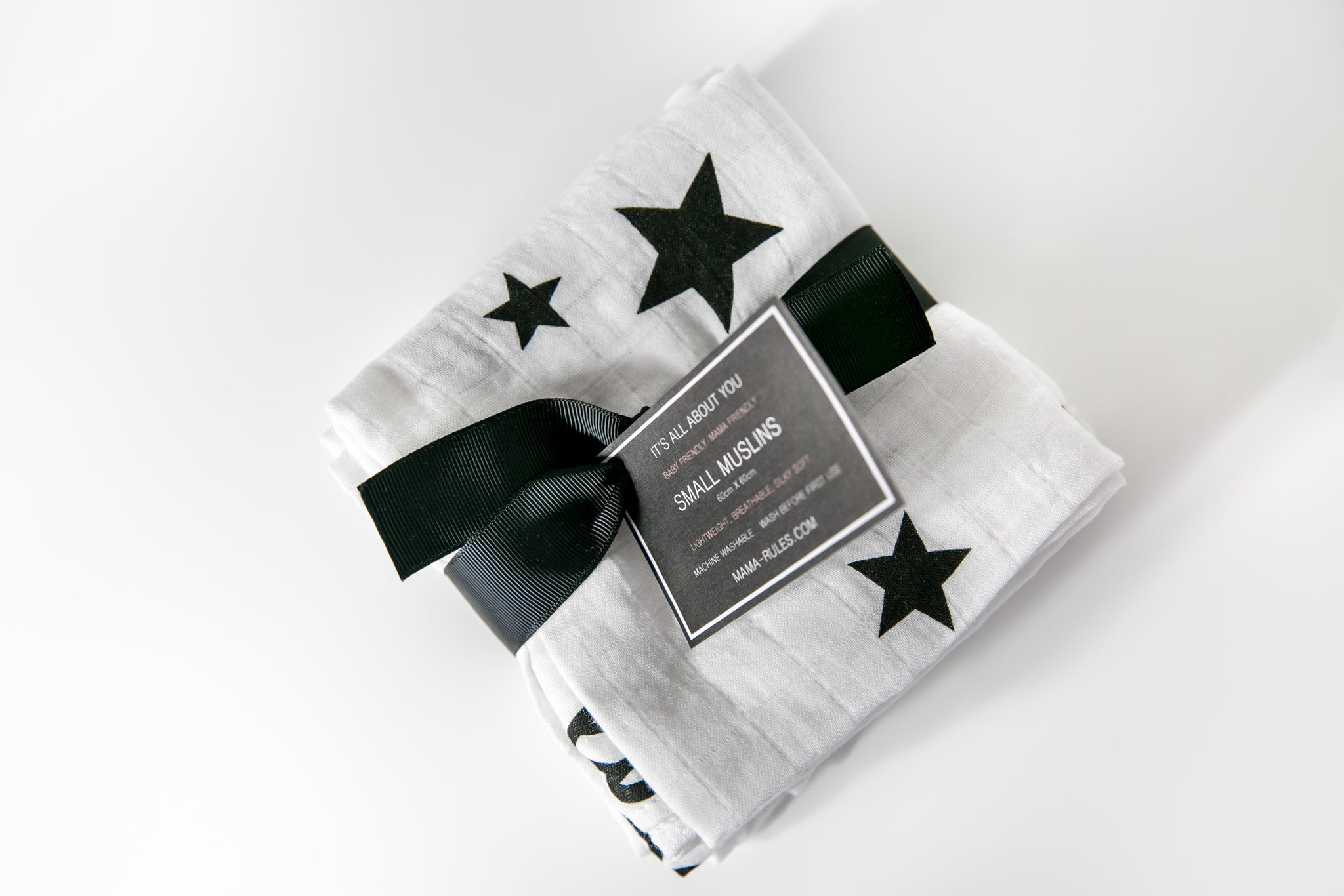 3 Pack Lucky Stars Organic Muslin Squares