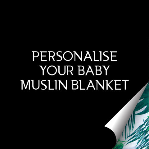 Personalise Your Baby Muslin Blanket
