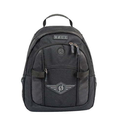 Black nylon backpack for men