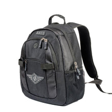 Load image into Gallery viewer, Black backpack with rubber handle