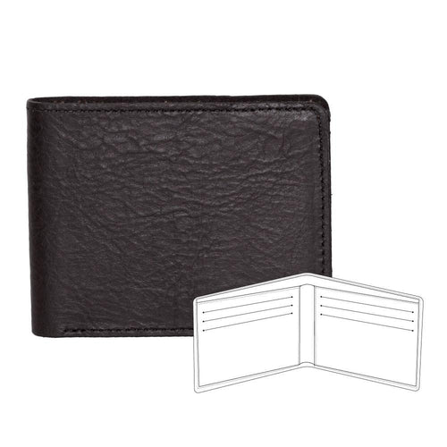 Black bison billfold wallet