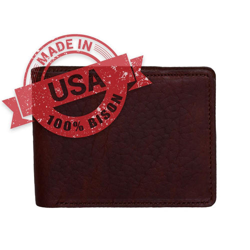 Bison billfold wallet