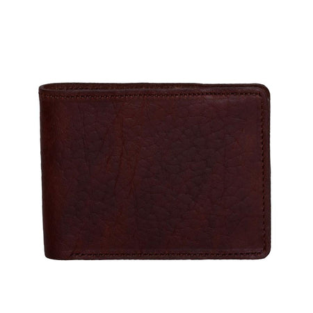 Bison tanned leather wallet
