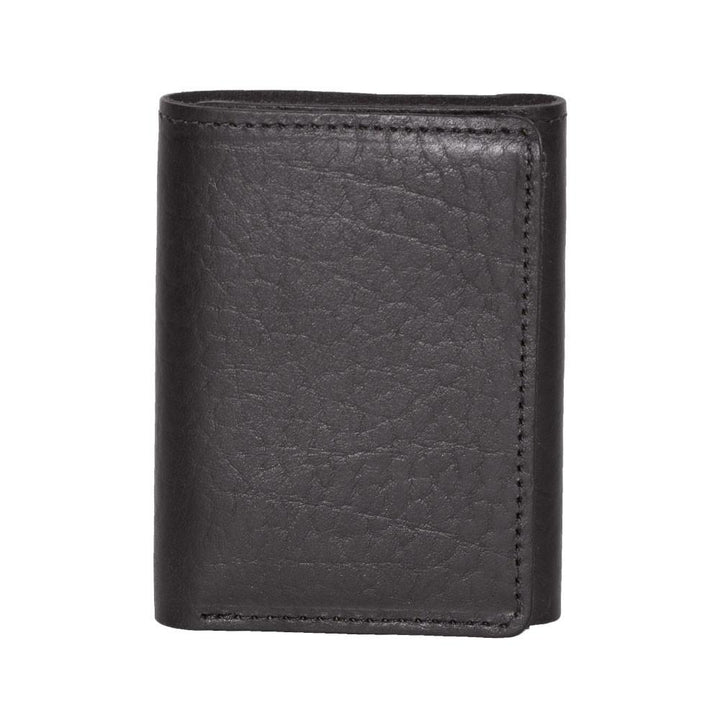 Black Trifold Leather Wallet