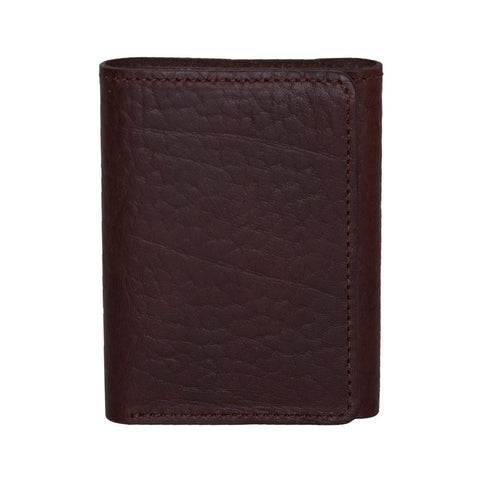 Brown Trifold Leather Wallet