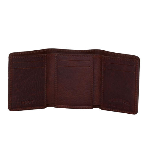 Leather wallet with credit card slots