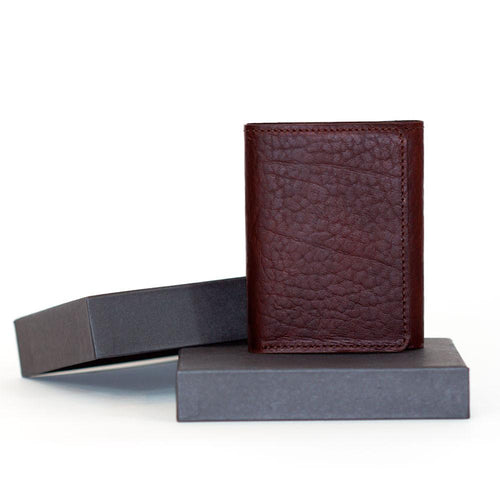 Bison Trifold Wallet with gift box