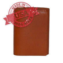 Load image into Gallery viewer, Trifold Made in USA leather wallet