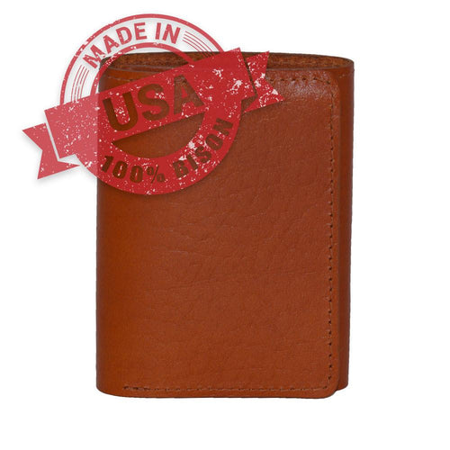 Trifold Made in USA leather wallet