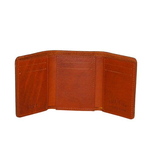 Tan Bison wallet with credit card slots