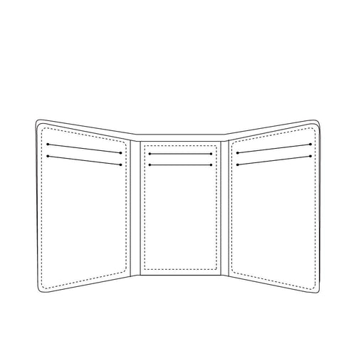 sketch of trifold wallet