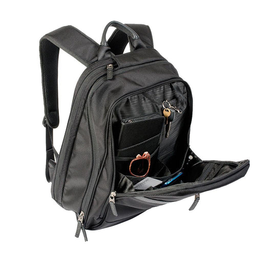 Multi pocket backpacks with school materials