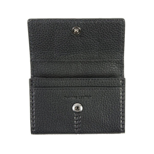 Leather wallet with card case holder