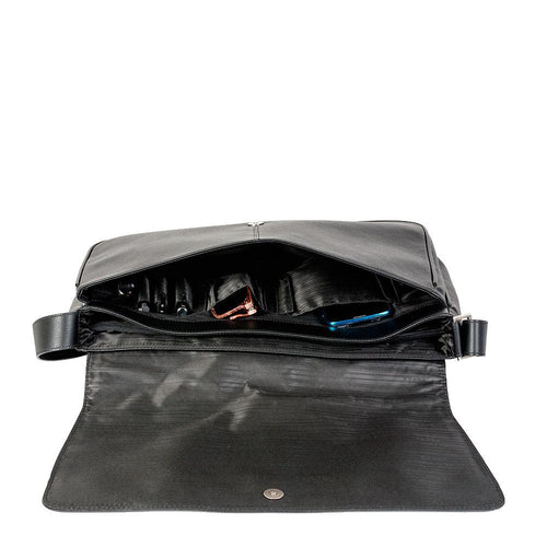 leather messenger bag with inner pockets