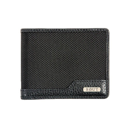 rout Black Slim Billfold Wallet
