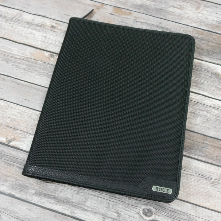 Black writing pad padfolio