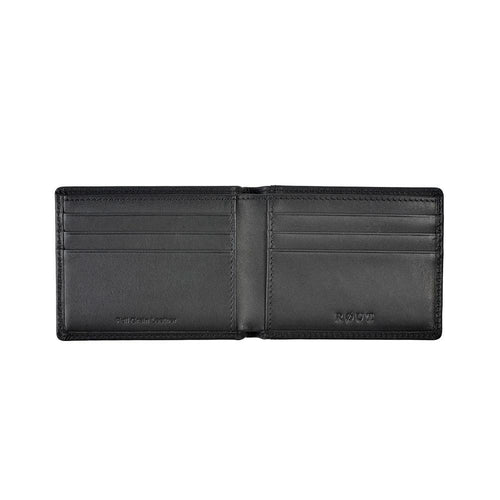 Black leather with card slots