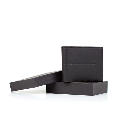 Black billfold with gift box