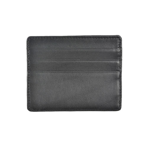 black leather wallet with credit card slots