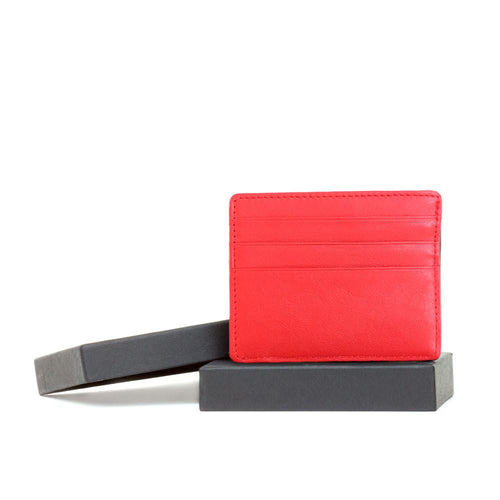 Red pocket wallet wit gift box