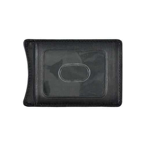 Leather money clip with ID pocket