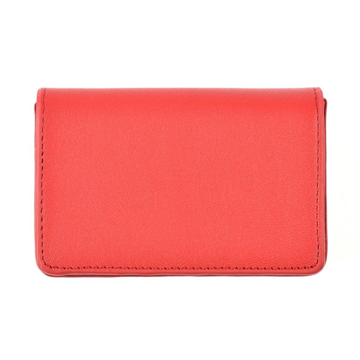 red leather card case - Magnetic Card Holder