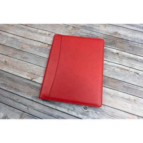 Red Leather Padfolio Writing Pad