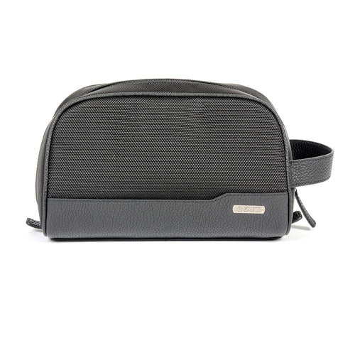 Black water resistant toiletry bag
