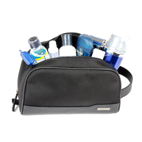 Toiletry bag with toiletries