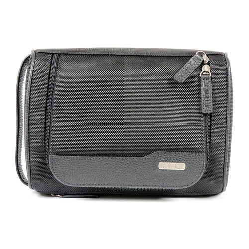 Black ballistic nylon toiletry bag