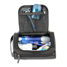 Load image into Gallery viewer, Black inner toiletry bag with toiletries