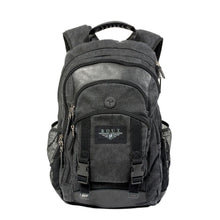 Load image into Gallery viewer, Black cotton backpack with leather trim
