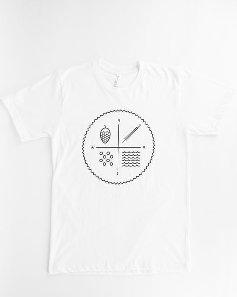 Black on White Tee (circle logo)