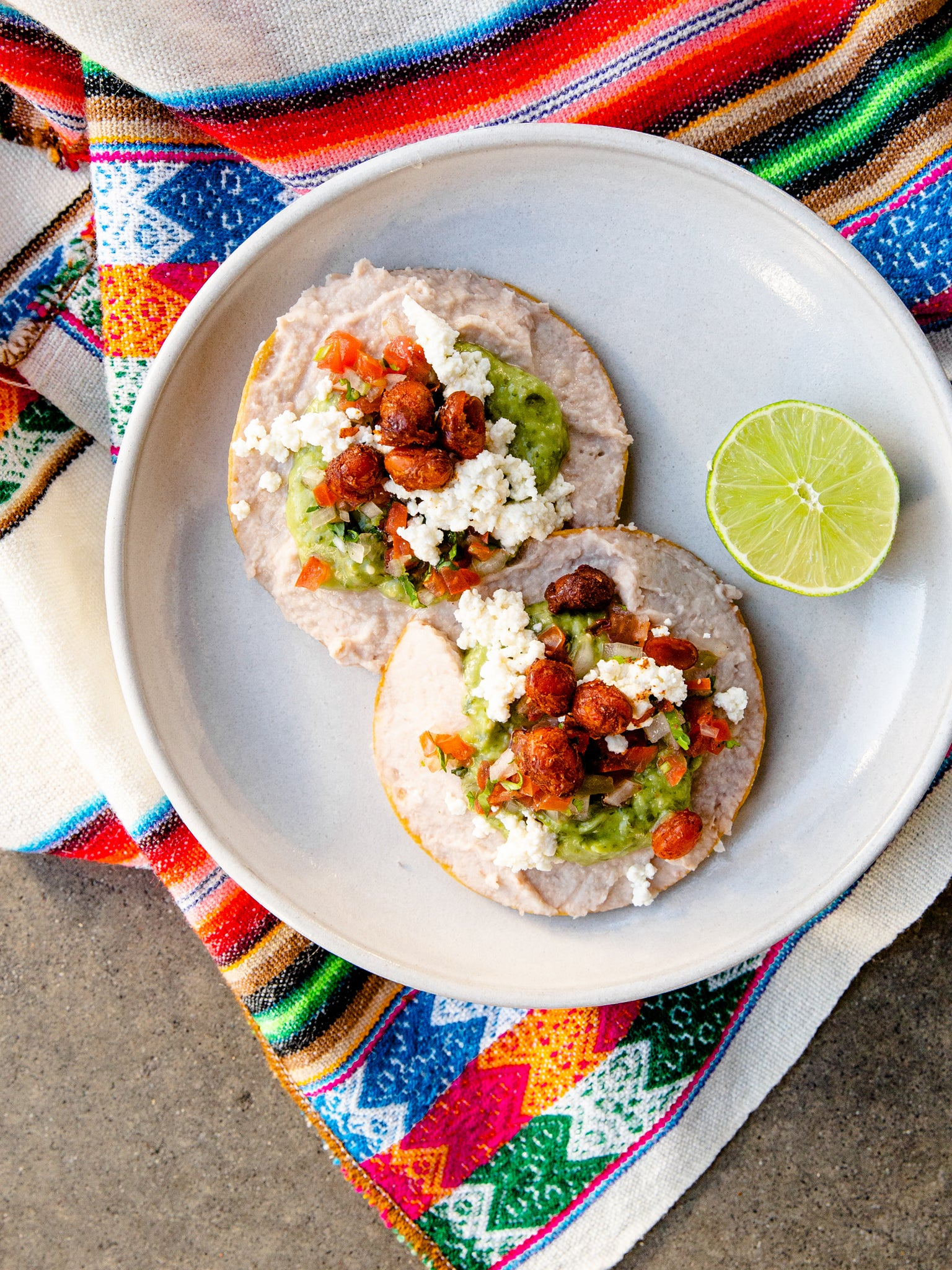Heat at home Refried Bean Tostada Set (Taco)
